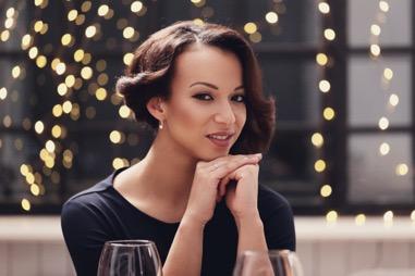 Woman looking elegant